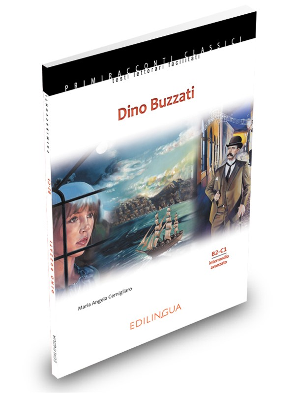 DINO BUZZATI - M. A. CernigliaroLivello intermedio-avanzato (B2, C1)Dino Buzzati (B2, C1) presents adapted stories selected from: La famosa invasione degli orsi in Sicilia, Il deserto dei Tartari, Un amore, Sessanta racconti (I sette messaggeri, Il musicista invidioso, Era proibito, Le precauzioni inutili, Inviti superflui, Il colombre), Il grande ritratto.Dino Buzzati also contains the author's brief biography, footnotes, original illustrations and a section dedicated to didactic activities with keys.PRICE: CAD 18.50 +hstN.2 available
