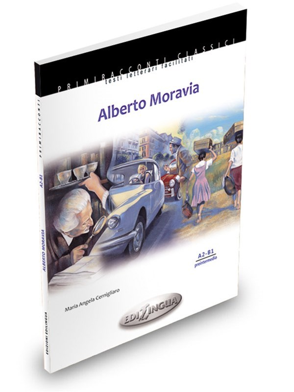 ALBERTO MORAVIA - M. A. CernigliaroEasy-to-read literature. Intermediate level. (A2- B1)Features Alberto Moravia (A2-B1) presents selected adapted stories from Gli indifferenti, Agostino, Racconti romani (Il picche nicche, Pignolo, La ciociara, Le sue giornate, La raccomandazione, Quant'è caro), La ciociara, La noia. Moreover, the book contains a brief biography of the author, footnotes, original illustrations and a section dedicated to didactic activities with accompanying answers.PRICE: CAD 12.50 +hst - NO CDN.1available