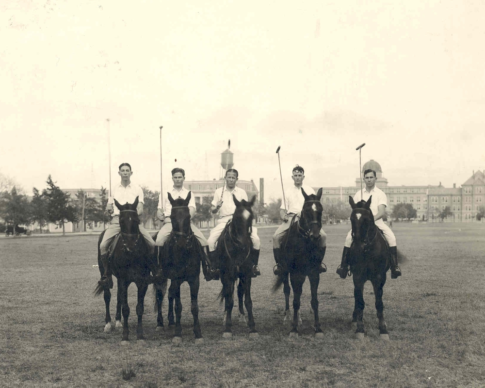 R.A. Brown on the Polo Team at Texas A&M