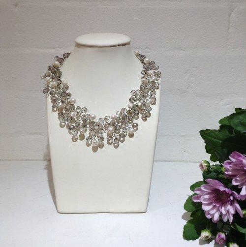 fb32f957e Pearl and Smokey Chrystal Handmade Jewellery — Origin Gallery