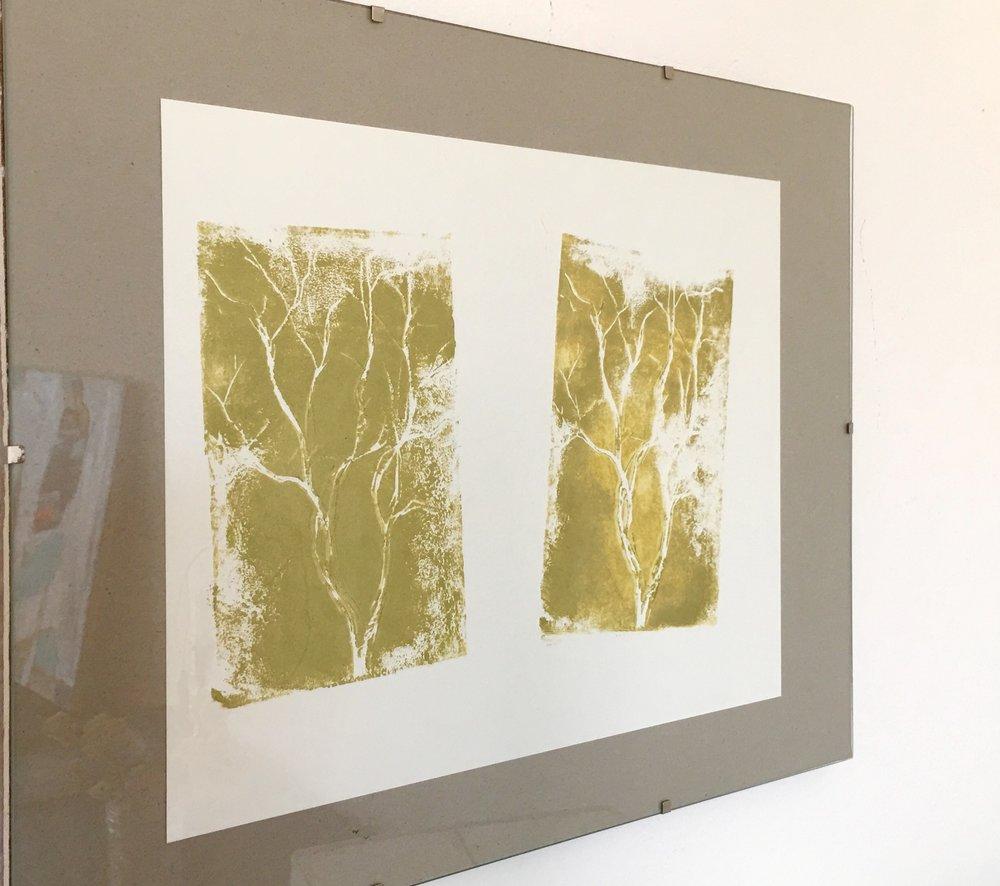 Winter Tree - Block Print - Greg Holden Regan