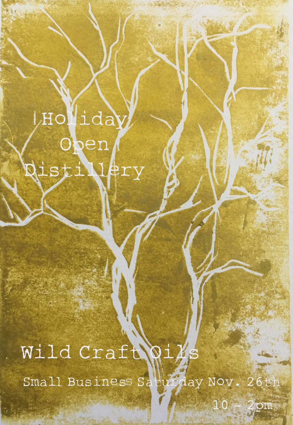 Holiday Open Distillery - Wild Craft Oils - Encinitas