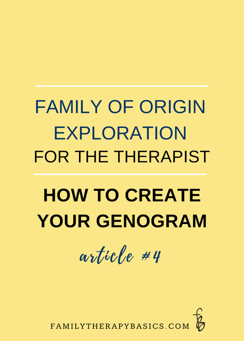 Family of Origin Exploration for the Therapist-Create Your Genogram