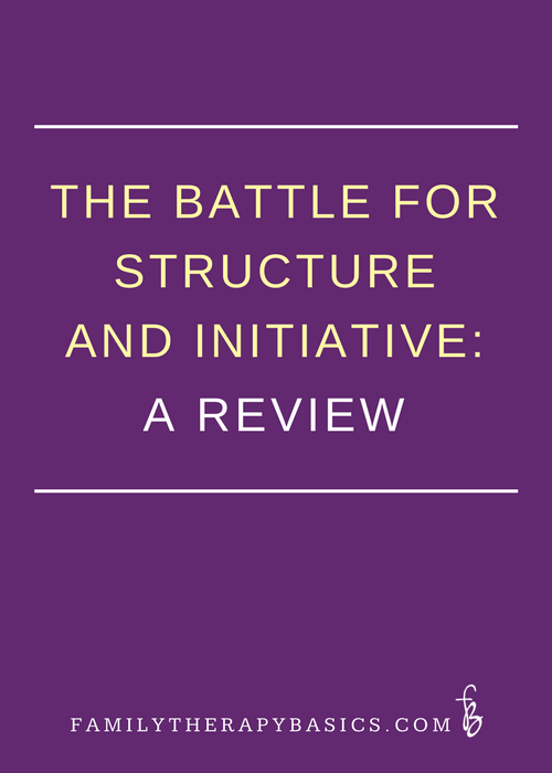 The therapist's battle for structure and initiative