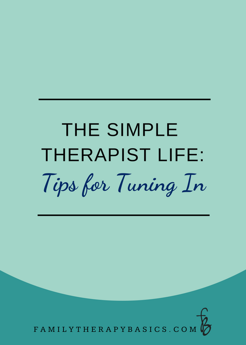 The Simple Therapist LIfe