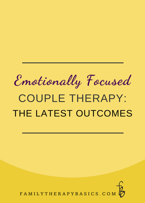 Emotionally Focused Couple Therapy Outcomes
