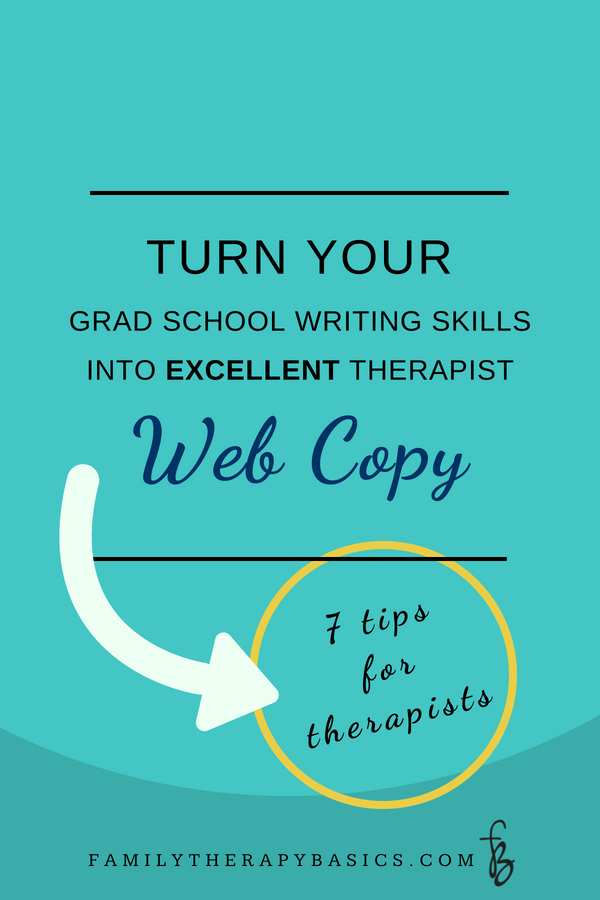 Therapist Website Copy | Family Therapy Basics