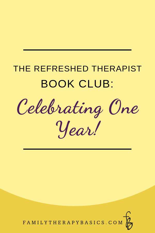 Refreshed Therapist Book Club | One Year Anniversary