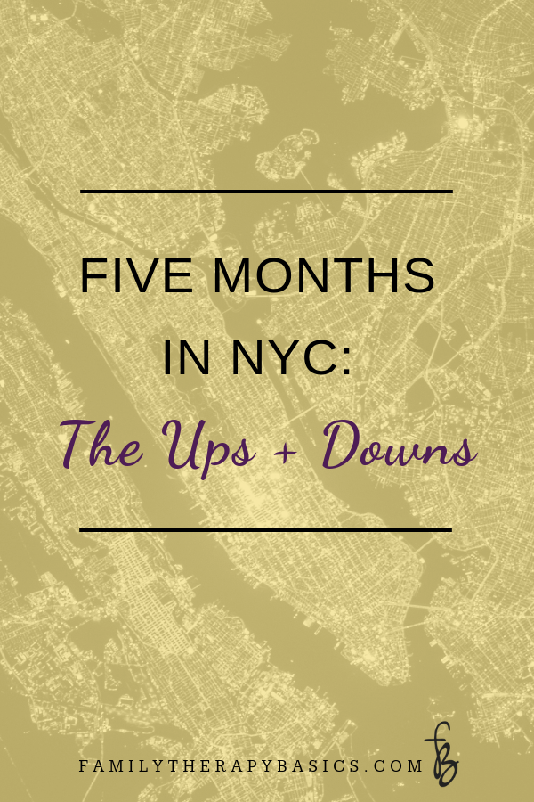 Five Months In NYC | Family Therapy Basics