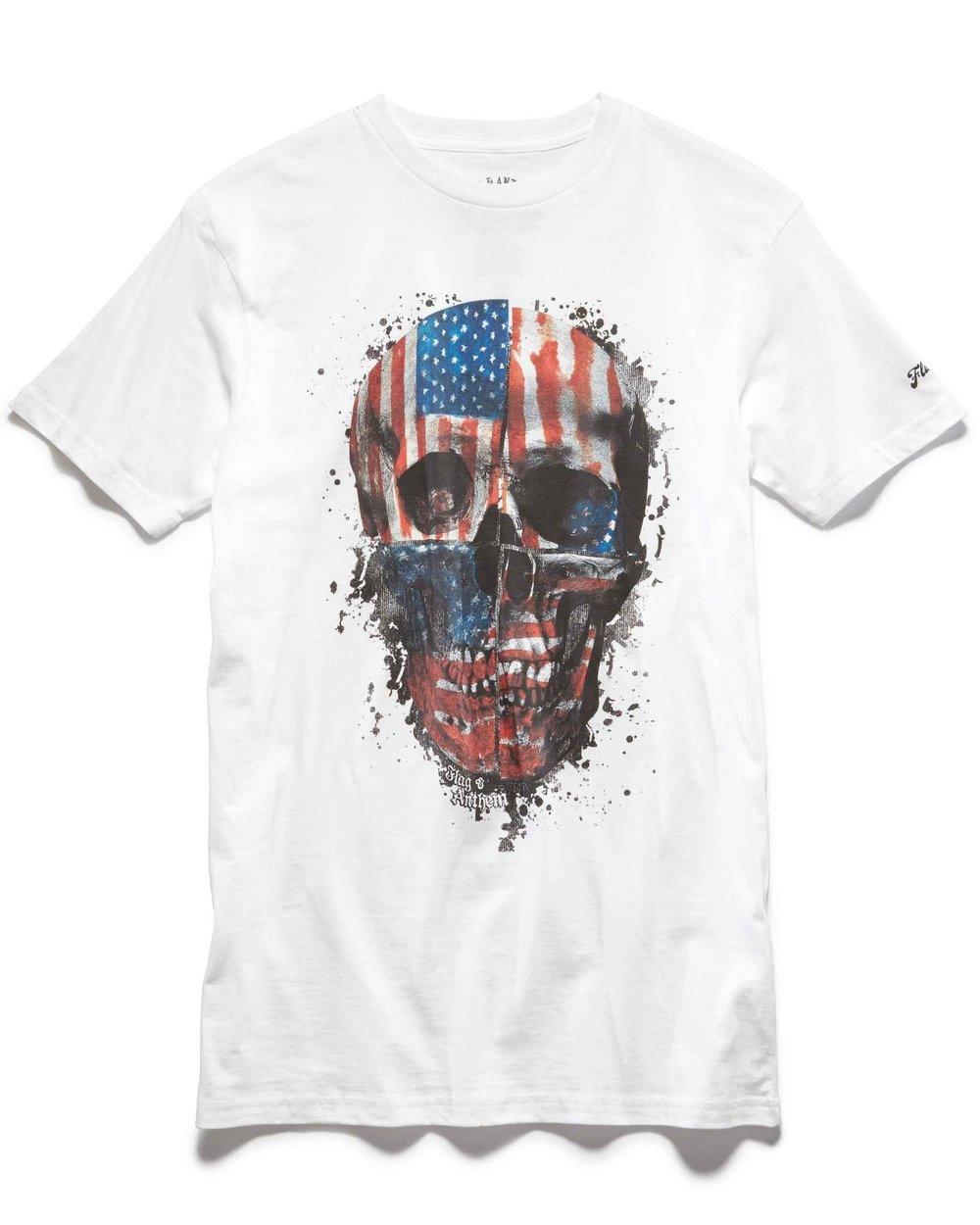 Flag Skull Tee $24.50