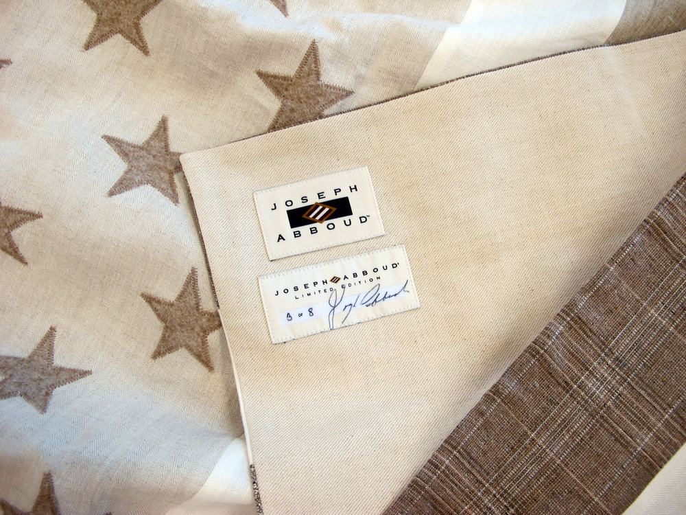 Limited Edition American Flag Wool Blanket $895