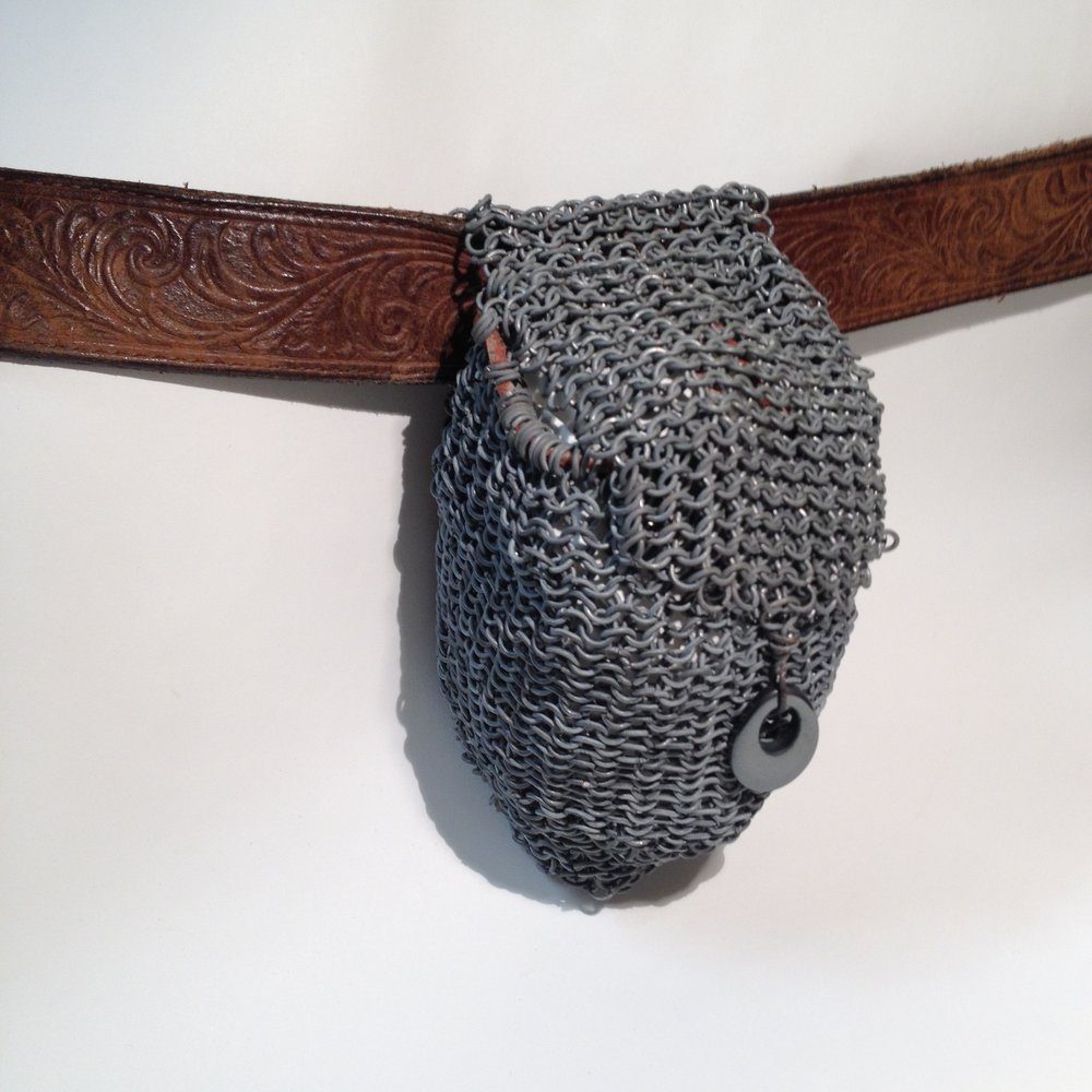 Hand made chainmail pouch.
