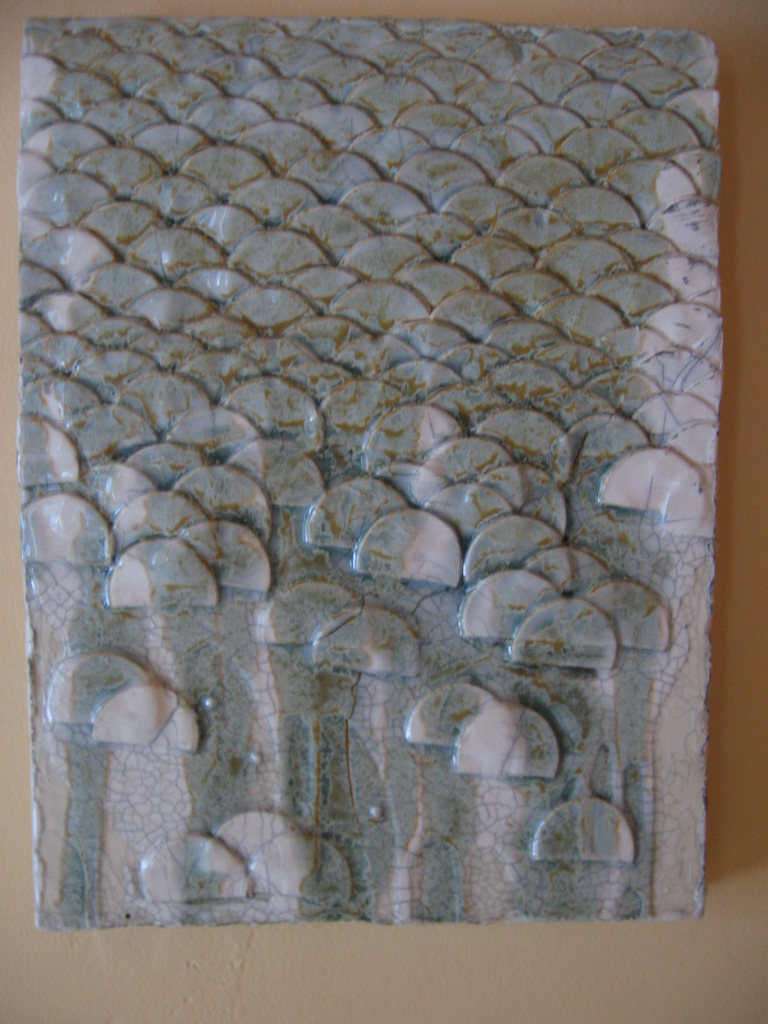 Ceramic wall tile.