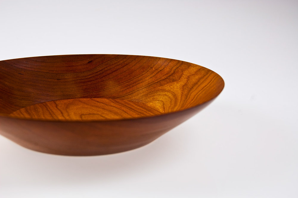 Turned maple bowl.