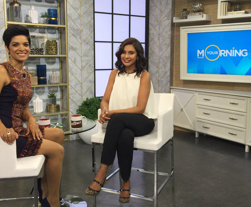 Actress Lisa Ray wearing Harlow style on Your Morning CTV