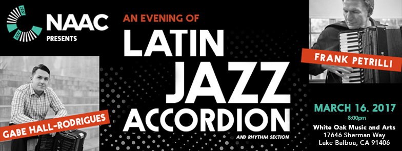 An Evening of Latin Jazz Accordion Music: Frank Petrilli and