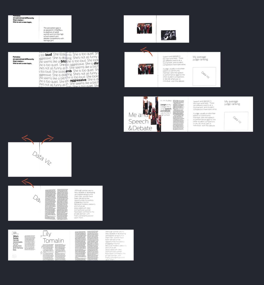 A selection of gatefold spreads