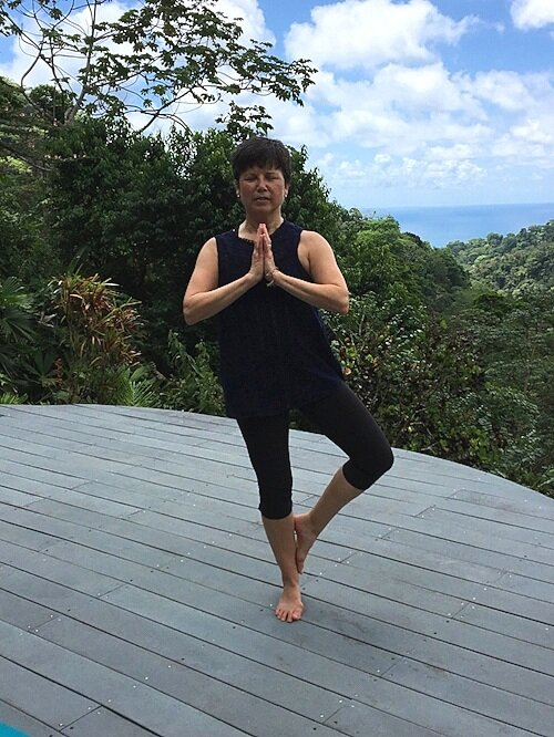 On the yoga platform in the Osa Peninsula in Costa Rica