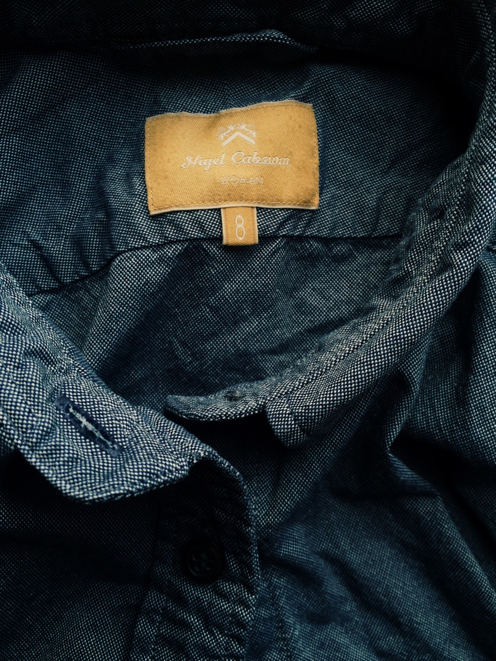 Japanese Cotton Oxford indigo shirt, from Nigel Cabourn Woman, Mainline collection