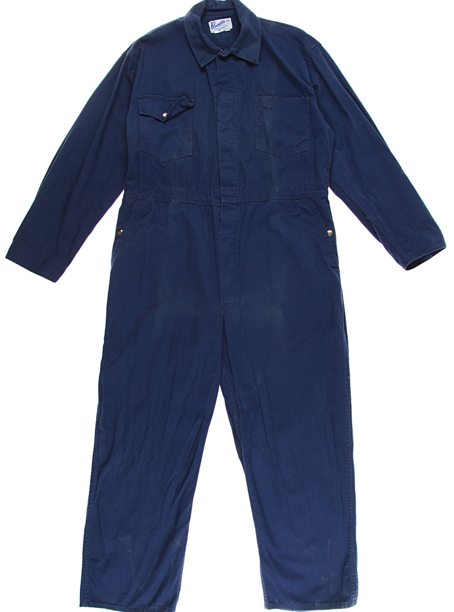 Blue coverall  £40 from Rokit Vintage