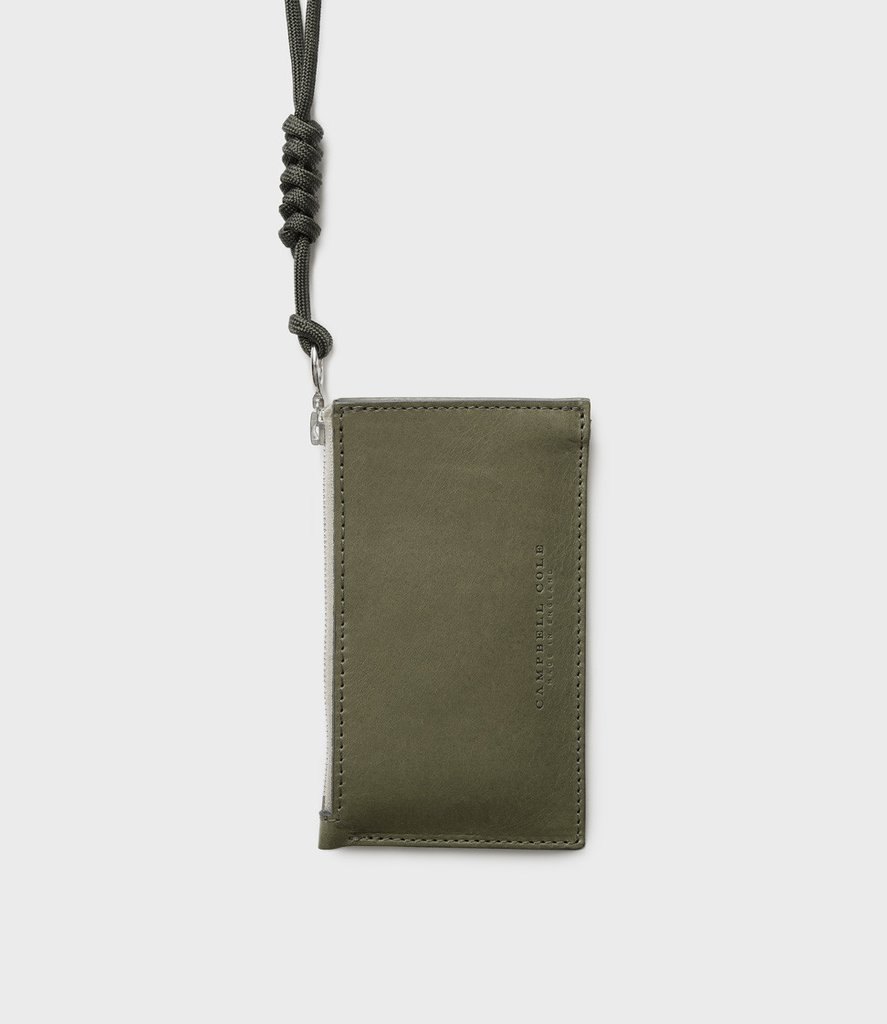 - Campbell Cole | Simple Coin Pouch Khaki - Designed and Made In England, this is a beautiful piece of craftsmanship. I personally love this colour but there are plenty more options to choose from online.