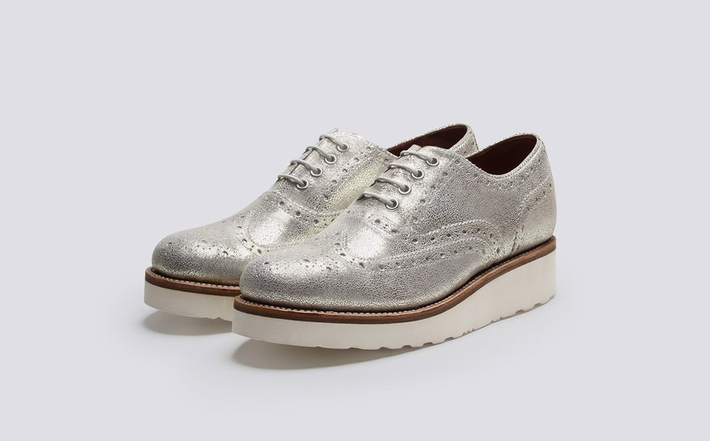 - Grenson | Women's Oxford 'Emily' Brogue in Silver - With their half price sale in full swing, it's the perfect time to gift someone the ultimate shoe, in something more daring than your usual black and blue! (Rhyming unintentional...)