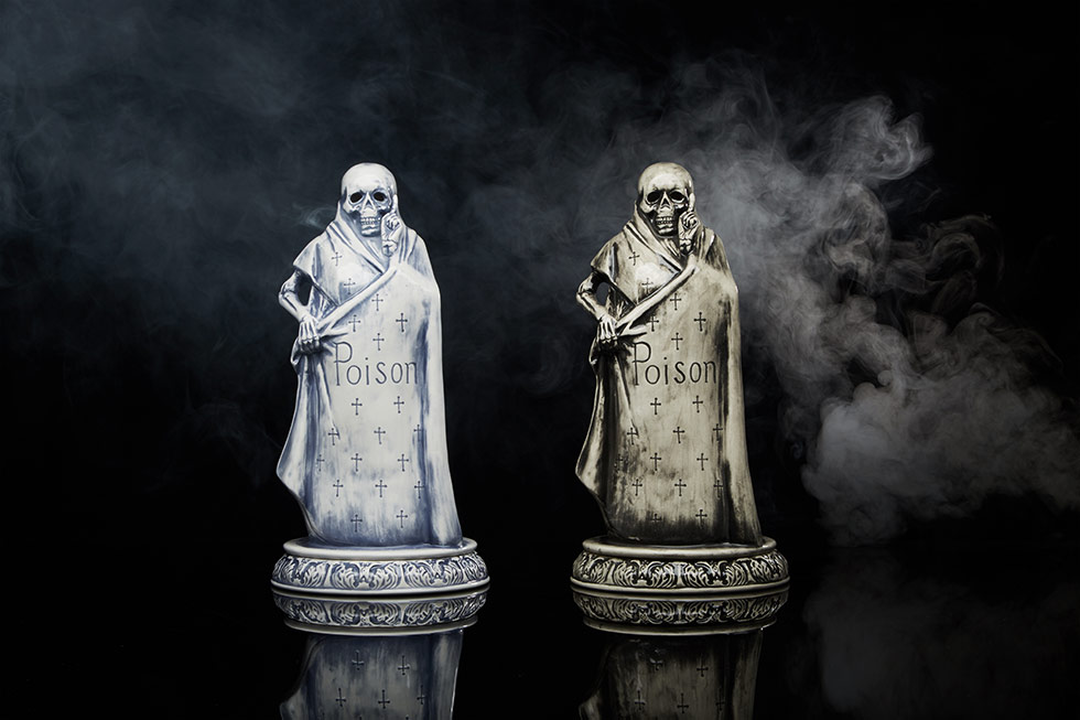 - End Clothing | Neighborhood Booze Reaper Incense Chamber - It might look pretty sinister but this Japanese ceramic pottery chamber is pretty spectacular! Pop in the intense and watch the smoke drift out. Give it to someone who already has a piece from the extensive Neighborhood chamber collection or get them started with this bad boy!
