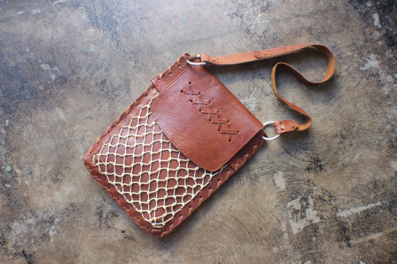 Vintage Leather Net Bag - Etsy - £54.45 (Not inc shipping)
