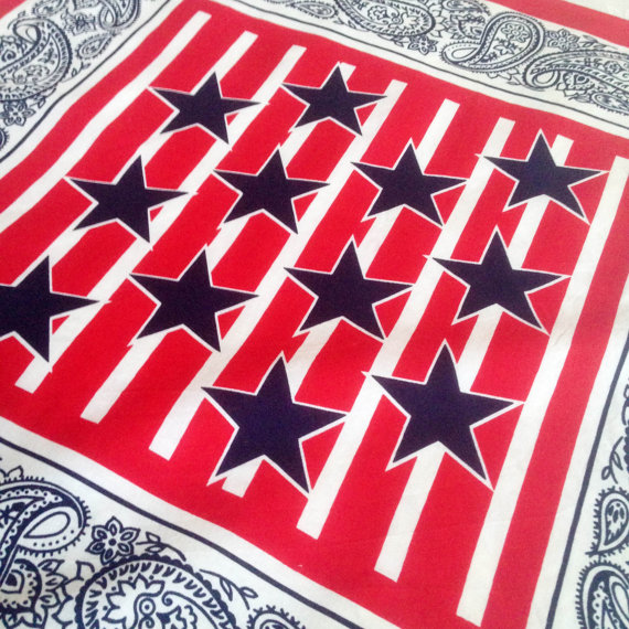 Vintage Made in USA bandana - Etsy - £9.40