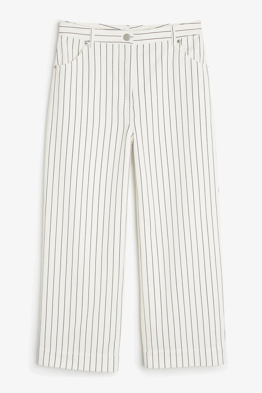 Monki Wide Leg Pinstripe Jean. - £30