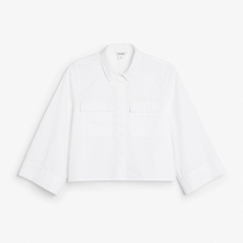 Monki Cropped Shirt - £30