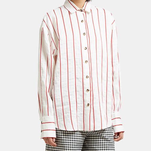 A.W.A.K.E Oversized creased stripe shirt - £330