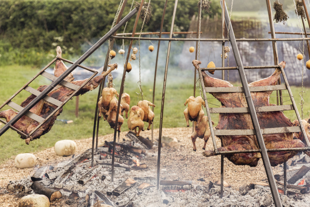 Cooking With Fire Pit -