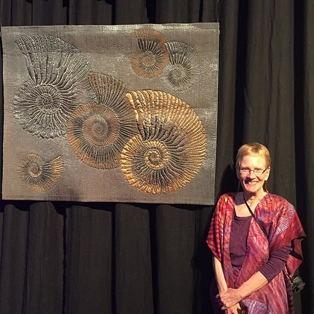 Fibonacci's Delight Just won judges choice at IQA in Houston. So proud! #paleoart #quilts #artquilts #ammoniteart