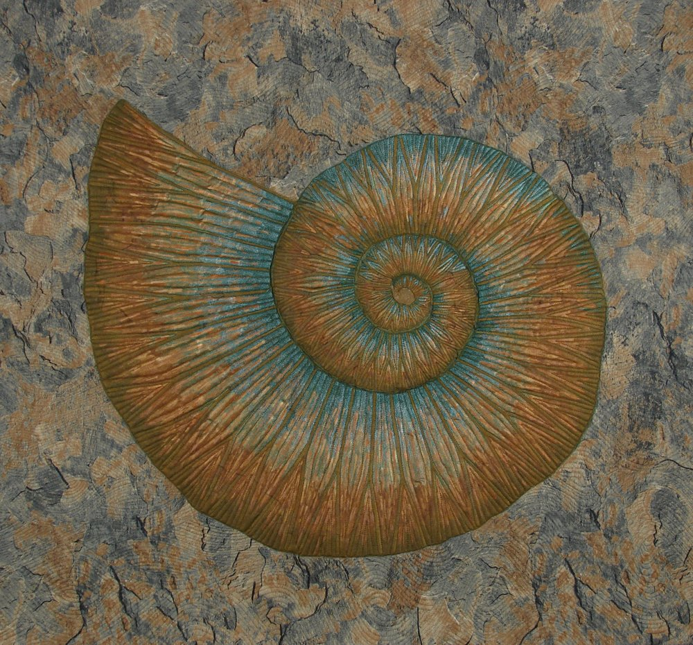 Ammonite in Marble II
