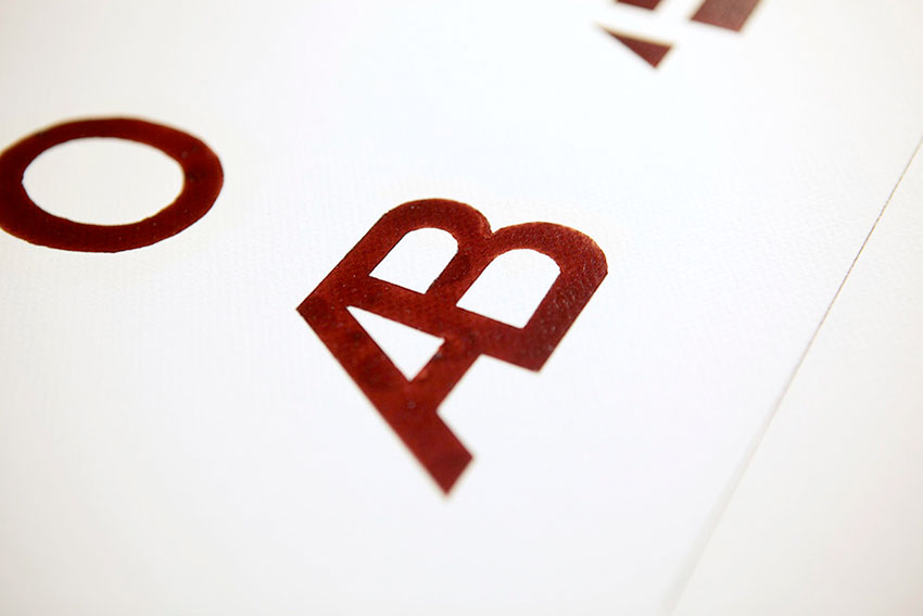 AB Blood Type Typography