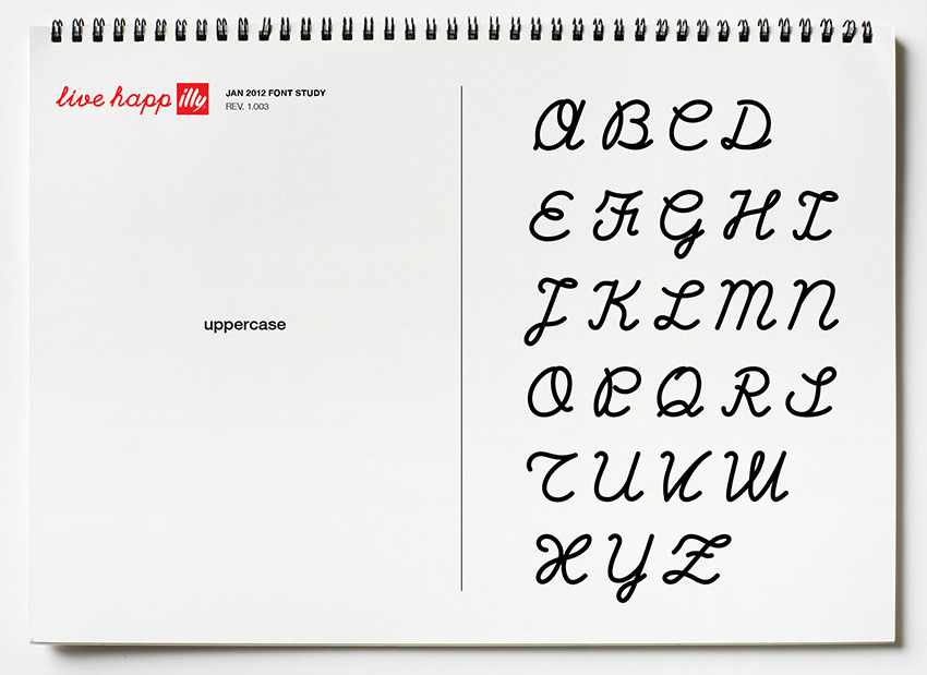 illy brand font exploration