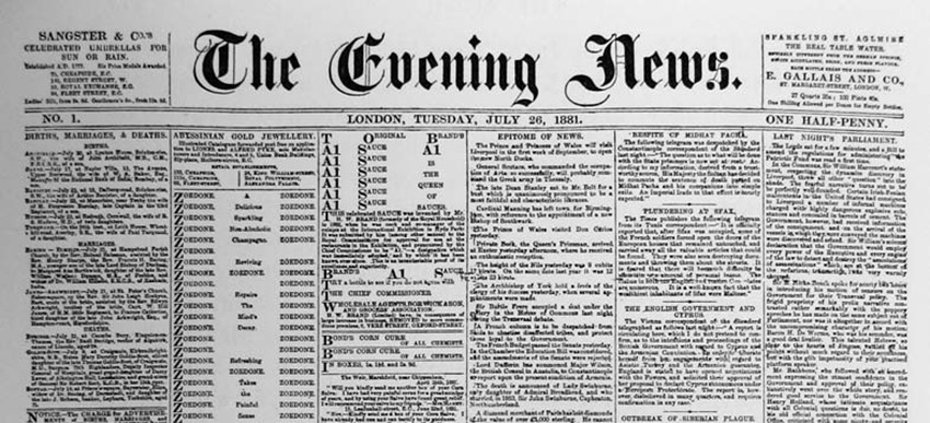 The Evening News from July 26, 1881.