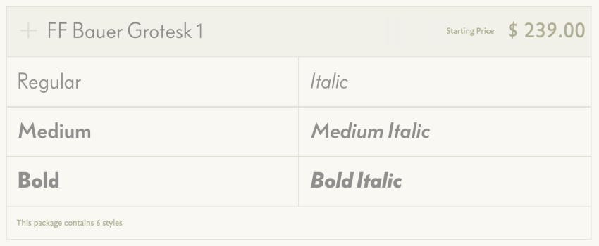 Typefacefamilysale