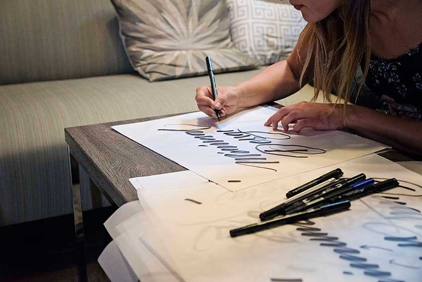 Gemma O'Brien brush lettering
