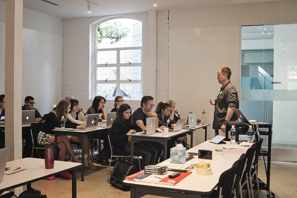 Marks of Desire Workshop at General Assembly with AIGA Los Angeles  |  Photograph by Jen Parker