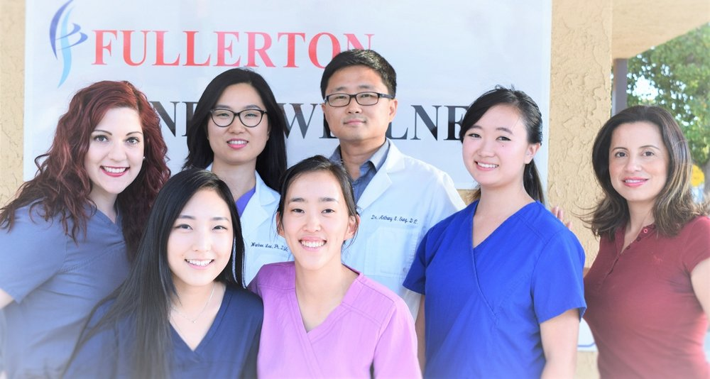 Top (L to R): Emily*, Dr. Lee, Dr. Song, Jackie*, Monica* Bottom (L to R): Eileen**, Hannah** * = Massage Therapist; ** = Front Office Staff