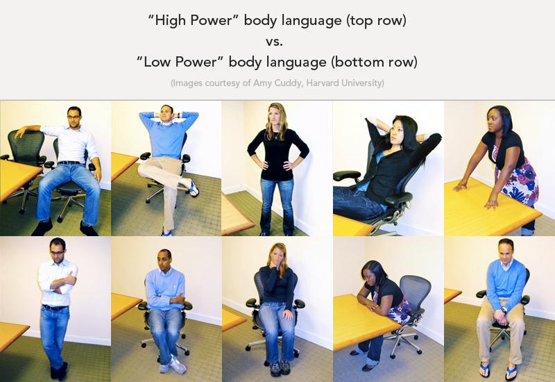 上段のハイパワーポース vs 下段のローパワーポース
