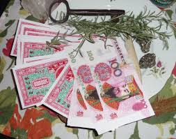 Some Chinese ancestral practices include offering spirit money to relatives.