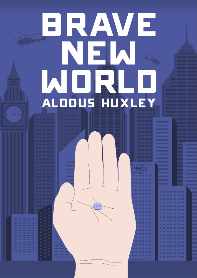 Brave New World  by Aldous Huxley* * This election has me reading dystopian novels. I opted to go back to one of the originals and was not disappointed. Whether it is escaping our problems through soma or coming to a world that is simultaneously exactly the same and different--this book is haunting in it's assessment of people and predictions of the world.