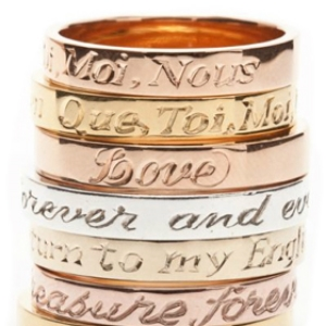 Engraving- Make it personal with a message. We offer professional engraving for all your jewelry.