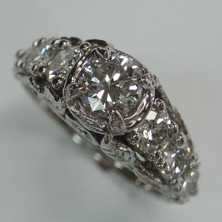 vintage inspired garden ring, diamonds set in 14kwg 2.jpg