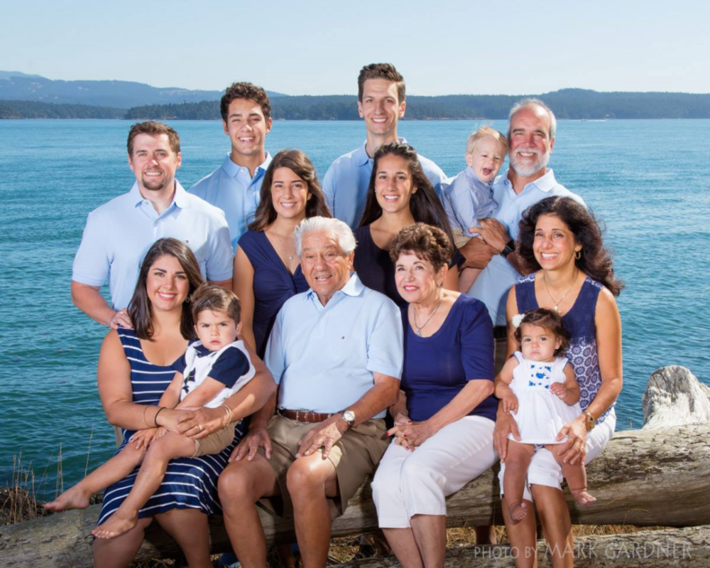 Bottom row from left to right: Christiana Hillier, Andrew Hillier, Dr. Jim Maniatis, Connie Maniatis, Presbytera Stacey Dorrance, Anastasia Hillier.  Middle row from left to right: Mike Hillier, Fotini Dorrance, Athanasia Poulos, Pano Poulos, Father Theodore Dorrance  Back Row: Anthony Dorrance, Niko Poulos