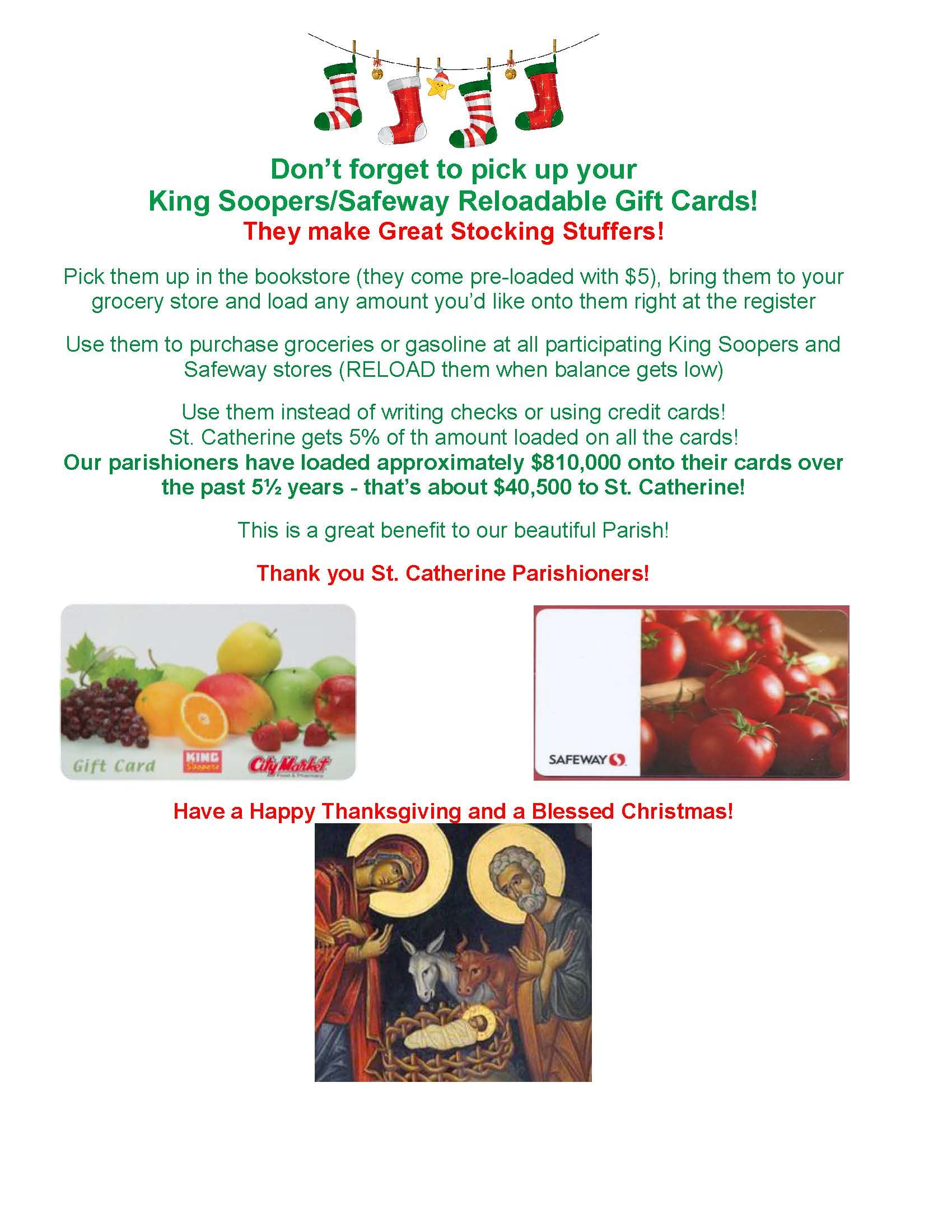 Passive Income Opportunity for Saint Catherine - King Soopers ...