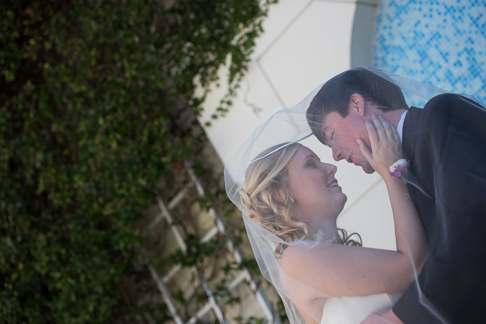 Newly Weds Loving Moment